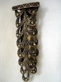 1940's Silver and Marcasite Dress Clip